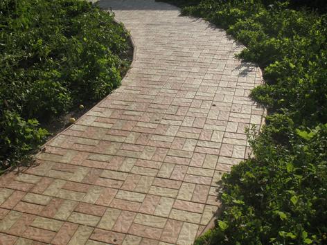 Форма тротуарной плитки « Кирпич рваный»