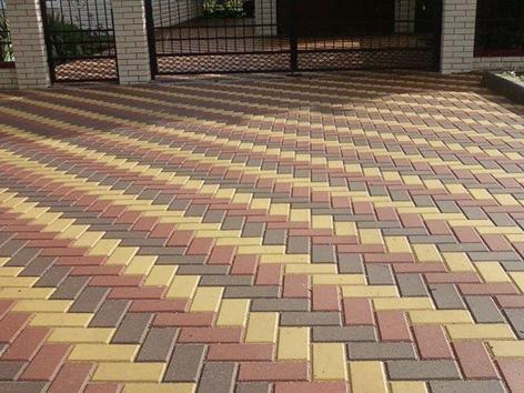 Форма тротуарной плитки « Кирпич гладкий»