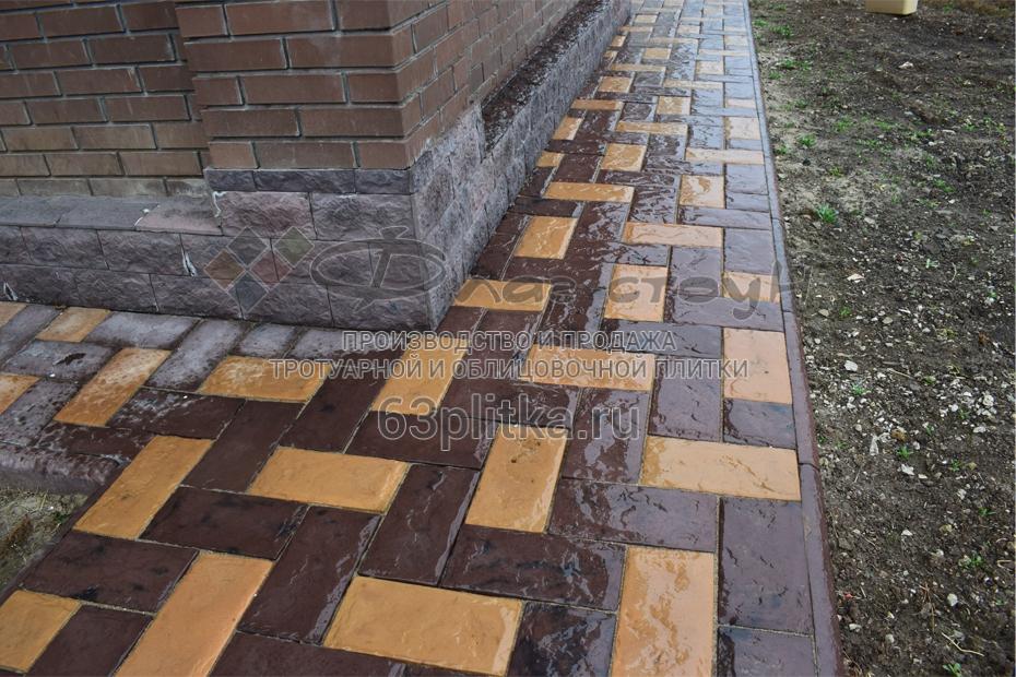Тротуарная плитка «Булыжный кирпич»