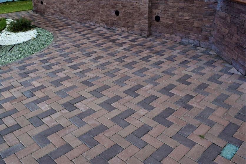 Вибропрессованная тротуарная плитка «Кирпич»
