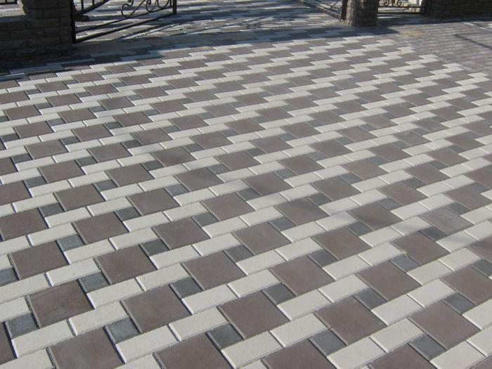 Вибропрессованная тротуарная плитка «Квадраты»